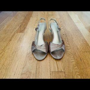 Liz Claiborne gold heeled sandals